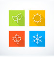 set of season icons vector image vector image