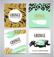 Set of trendy invitations with scribble texture vector image vector image