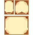 set retro frames vector image vector image
