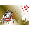 show jumping poster vector image