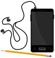 Smartphone and pencil vector image vector image