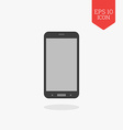 Smartphone icon Flat design gray color symbol vector image vector image