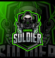 soldier mascot logo esport vector image vector image