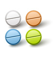 stylish colored pills vector image