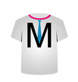 T Shirt Template- letter M vector image vector image