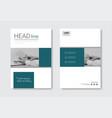 Template design brochure set annual report