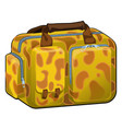 travel bag with texture on a theme giraffe vector image vector image