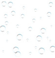 underwater fizzing air bubbles on white vector image