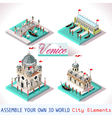 Venice 03 Tiles Isometric vector image vector image