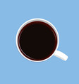 white cup of coffee on a blue background vector image