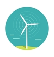 Wind Turbine In Flat Design vector image