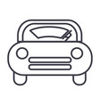 windshield car line icon sign vector image vector image