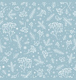 winter holiday nature seamless floral pattern vector image vector image