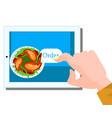 ordering food online concept vector image