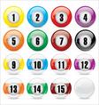 pool balls vector image