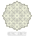 Abstract geometric figure with square rhombus vector image