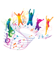 Active jumping and dancing people vector