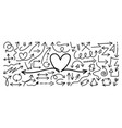 arrow doodle set sketch set hand vector image vector image