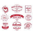 Back to School typography Designs Label Set vector image vector image