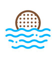 ball on water icon outline vector image vector image