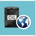 barrel oil concept globe world vector image