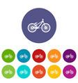 bike set icons vector image vector image