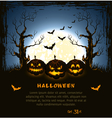 Blue grungy halloween background vector image