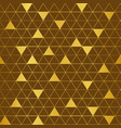 brown and gold triangle pattern background vector image