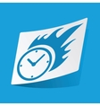 Burning clock sticker vector image vector image