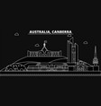 canberra silhouette skyline australia - canberra vector image vector image