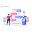 chat bot messenger concept modern flat design vector image
