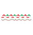 christmas border line set isolated on white vector image