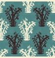 cocoa tree silhouettes on canvas seamless pattern vector image vector image