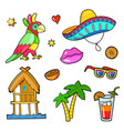 comic book style stickers vector image vector image