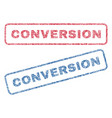 conversion textile stamps vector image vector image