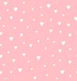 cute romantic hearts pattern vector image
