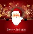 cute santa on bokeh lights background vector image vector image