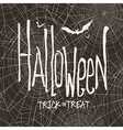 design with hand drawn halloween Vintage ba vector image vector image