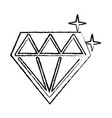 diamond shining icon image vector image vector image