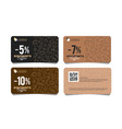 discount card or voucher with line pattern of vector image vector image
