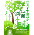 earth day celebration banner for ecology design vector image vector image