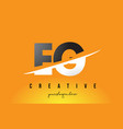 eg e g letter modern logo design with yellow vector image vector image