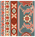 ethnic carpet texture ribbon set vector image