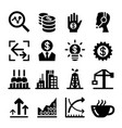 finance stock exchange icon set vector image