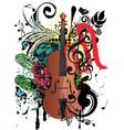 grunge violin vector image vector image