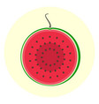 half slice red watermelon icon vector image