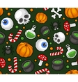 Halloween Seamless Pattern Background with Spider vector image
