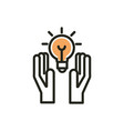 hands idea solution web development icon line and vector image vector image