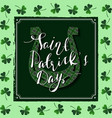 happy st patricks day lucky horseshoe vector image vector image