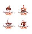 home made cake bakery pastry confectionery vector image vector image